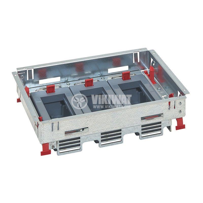 Основа за подова кутия, 281.3x198.3x80.7mm, метална, за 12 модула, 88020 - 1