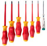 Set of 6 insulated screwdrivers and phasometer, 1000V, WERA W031576
