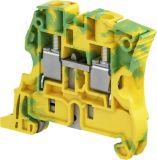 Редова клема ZS10-PE 57A 600V 10mm2 жълто-зелена заземителна