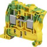 Редова клема ZS16-PE 76A 600V 16mm2 жълто-зелена заземителна