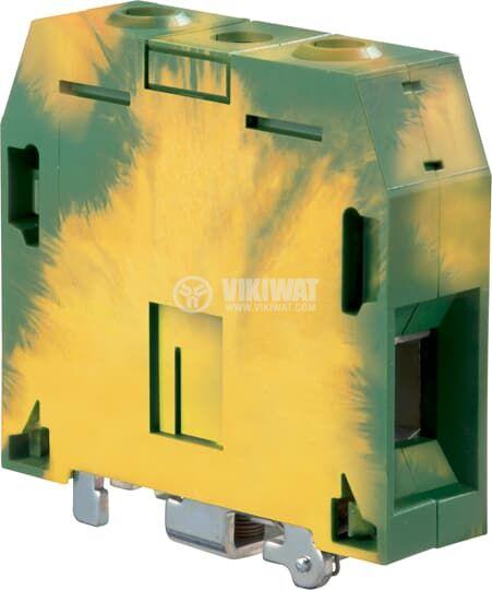 Редова клема ZS70-PE 192A 1000V 70mm2 жълто-зелена заземителна