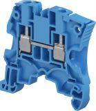 Редова клема едноредова ZS6-BL 41A 1000V 6mm2 синя