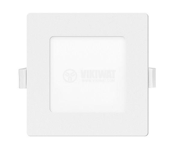 LED панел за вграждане, 6W, квадрат, 230VAC, 360lm, 3000K, топло бял, 120х120mm - 2