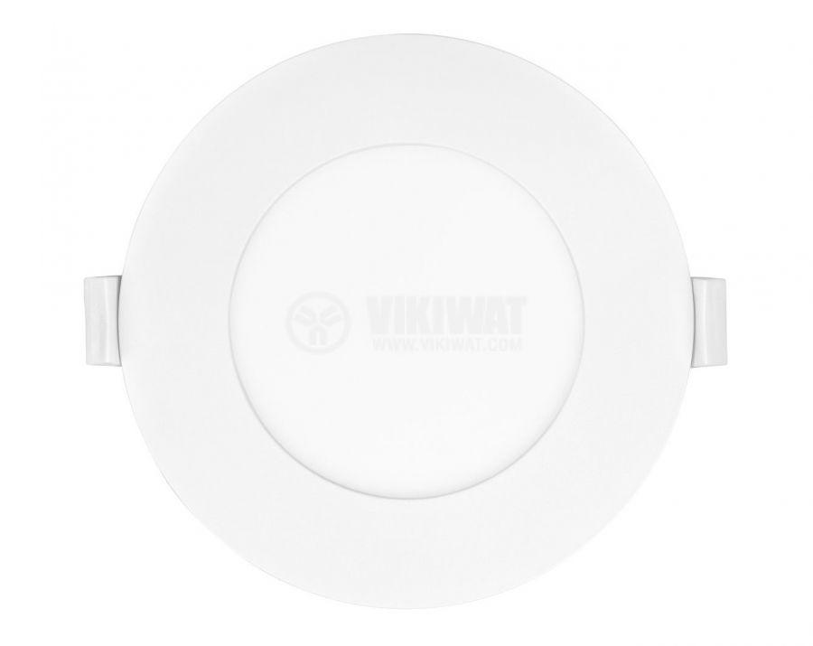 LED панел за вграждане, 6W, кръг, 230VAC, 360lm, 6500K, студено бял, ф120mm - 2