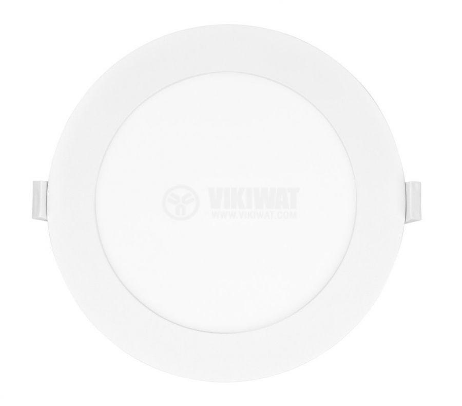 LED панел за вграждане, 12W, кръг, 230VAC, 850lm, 3000K, топло бял, ф170mm - 2