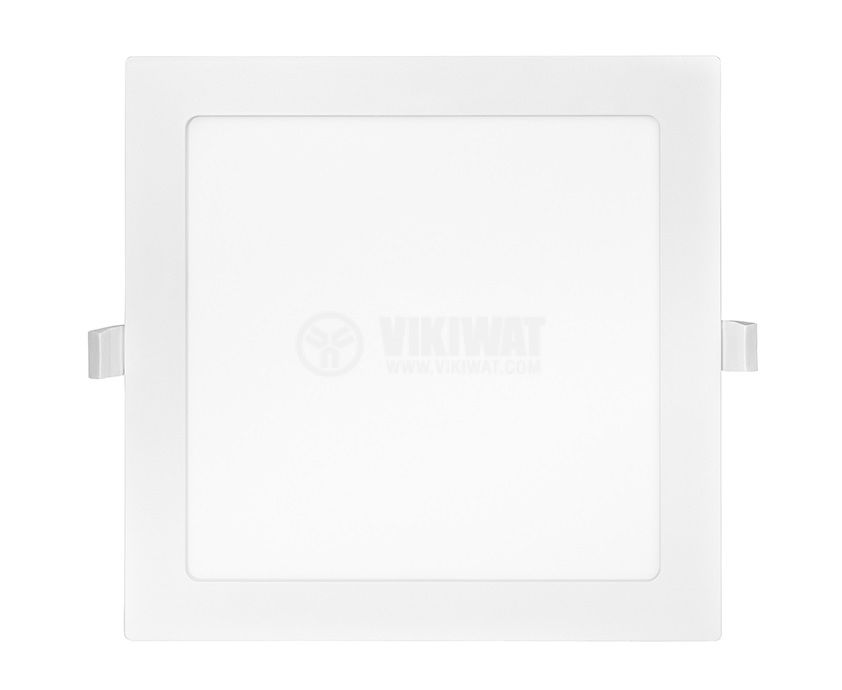 LED панел за вграждане, 18W, квадрат, 230VAC, 1350lm, 6500K, студено бял, 225х225mm - 2