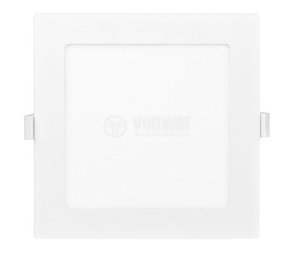 LED панел за вграждане, 12W, квадрат, 230VAC, 850lm, 3000K, топло бял, 170х170mm, LPLA21W123  - 2