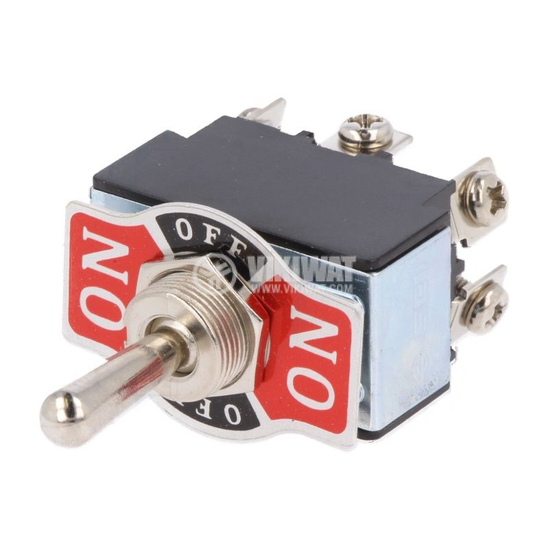 Toggle switch R13-8E-06, 20A/12VDC, DP3T, ON-OFF-ON - 1