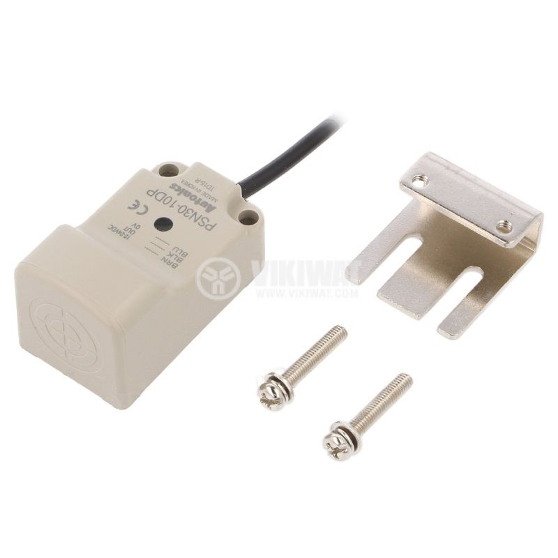 Индуктивен датчик PSN30-10DP, 10~30VDC, NO, PNP, 10mm, 30x30x53mm, екраниран - 2