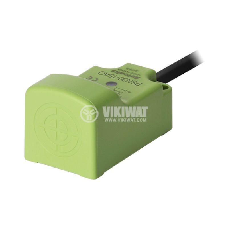 Индуктивен датчик PSN30-15AO, 100~240VAC, NO, 15mm, 30x30x53mm, екраниран - 1
