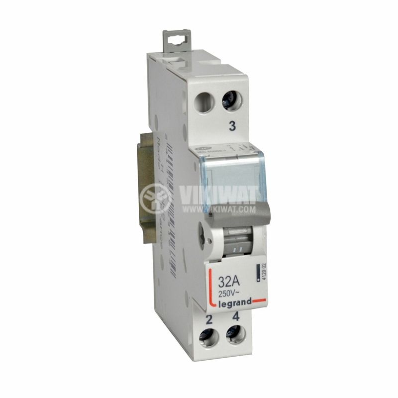 Switch 412902, 1P, 32A, 250VAC, midpoint, DIN