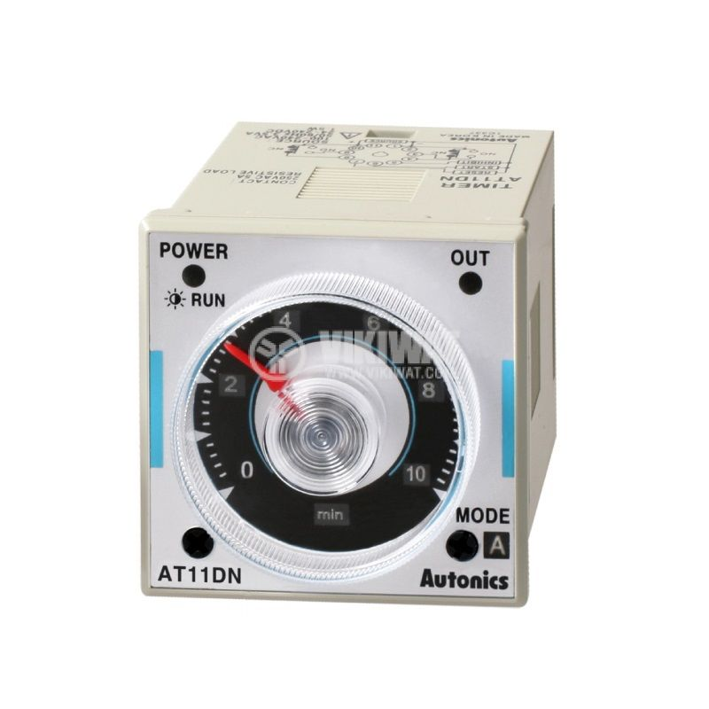 Time relay AT11DN-2, 24VAC/VDC, delay turn on/off, 0.05s~100h, 5A/250VAC, 2xNO+2xNC - 1