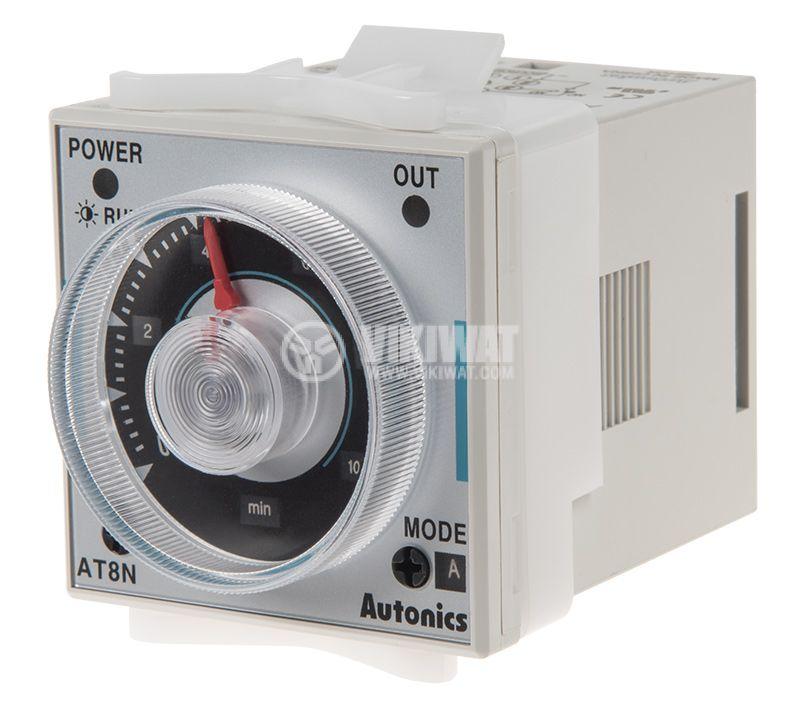 Реле за време AT8N-2, 24VAC/VDC, закъснение вкл./изкл., 0.05s~100h, 5A/250VAC, 2xNO+2xNC - 1