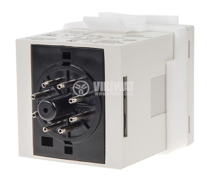 Реле за време AT8N-2, 24VAC/VDC, закъснение вкл./изкл., 0.05s~100h, 5A/250VAC, 2xNO+2xNC - 2