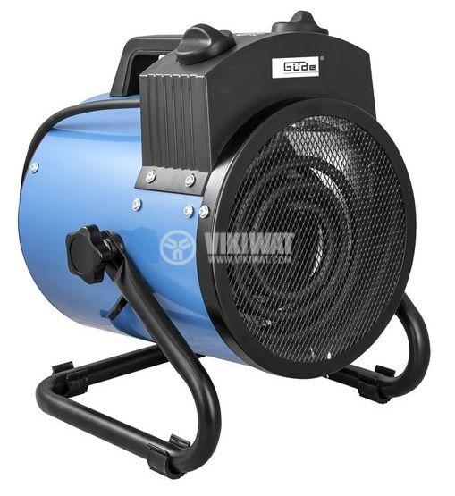 Вентилаторна печка 1000/2000W 230V черна/синя GUDE GEH 2000