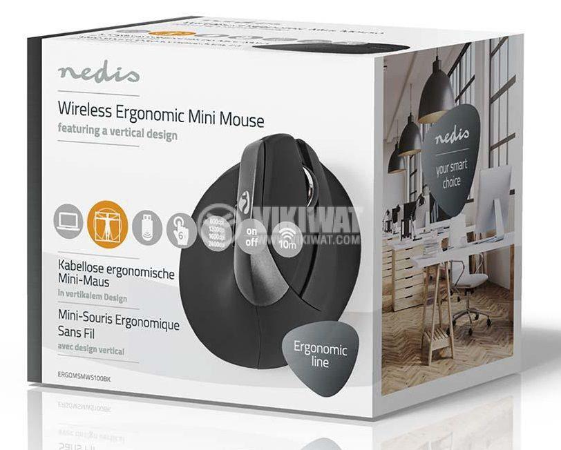 Ергономична, безжична мишка с 6 бутона ERGOMSMWS10, 800/1200/1600dpi - 9