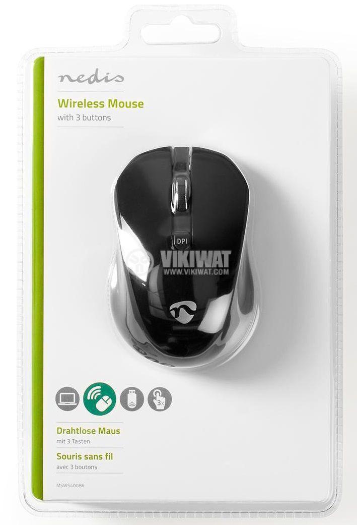Безжична мишка Nedis MSWS400BK 3 бутона черна - 6