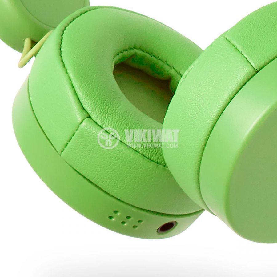 Слушалки с магнитни уши и очи на жаба Freddy Frog, жак 3.5mm, 85dB, 1.2m, зелени, HPWD4000GN, NEDIS - 8