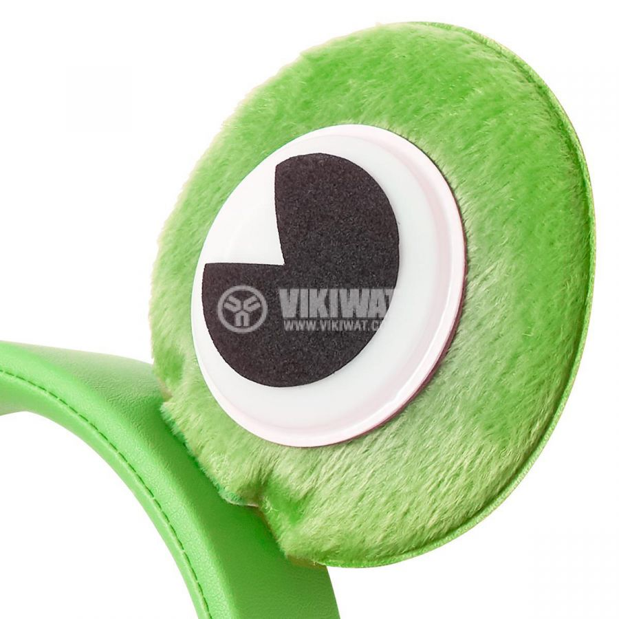 Слушалки с магнитни уши и очи на жаба Freddy Frog, жак 3.5mm, 85dB, 1.2m, зелени, HPWD4000GN, NEDIS - 7