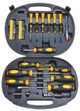 Tools set screwdrivers phase meter inserts and bits 49 parts Wert 2236