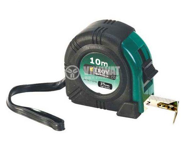 Ролетка 10m автоматично заключване и прибиране гумено покритие TROY T 23110