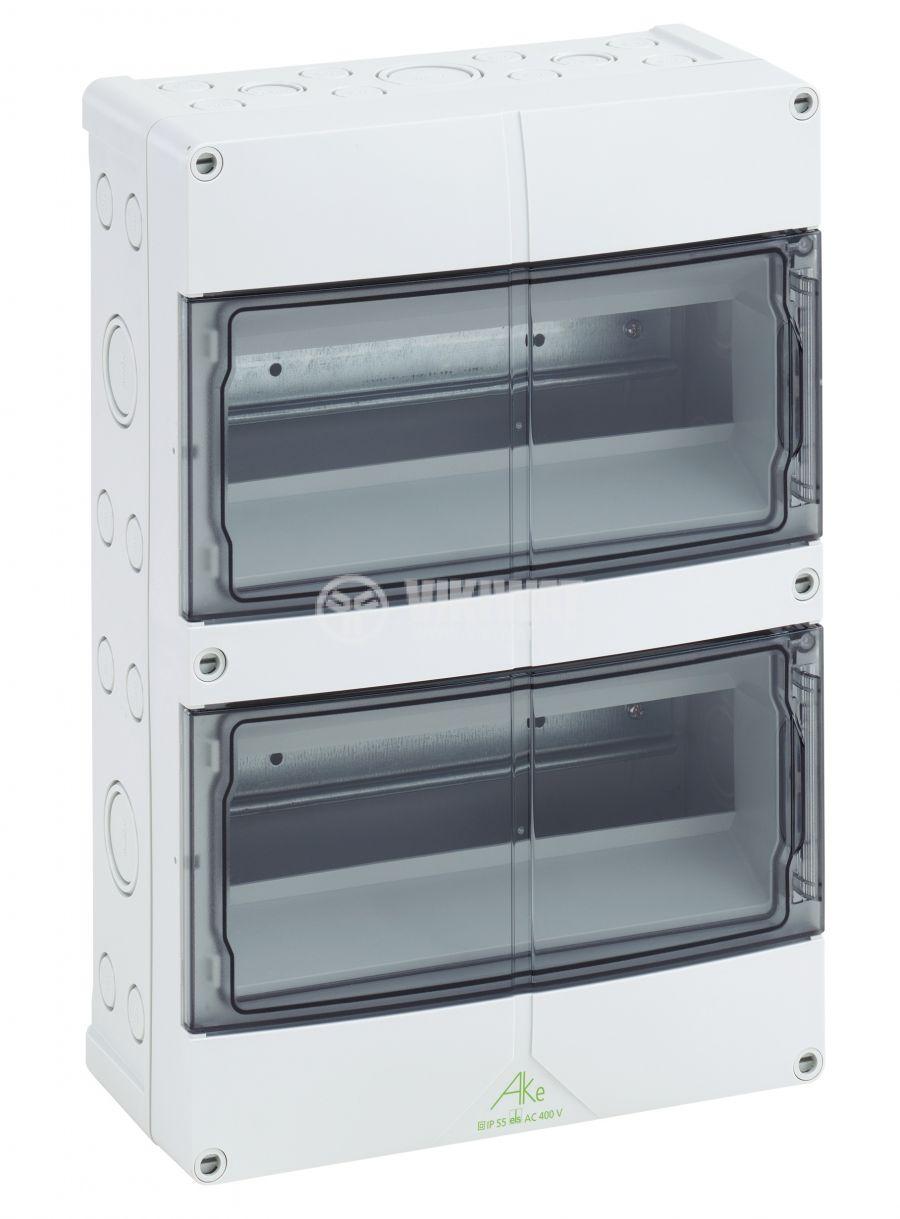 Апартаментно табло 73572401 2x12 модула за вътрешен монтаж IP65 бял цвят
