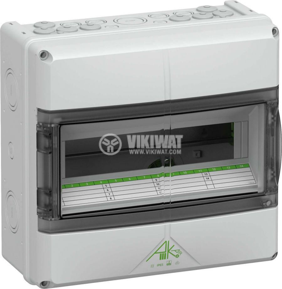 Апартаментно табло 73341401 12 модула за външен монтаж IP65 бял цвят