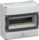 Апартаментно табло 73341401, 12 модула, за външен монтаж, IP65, бял цвят