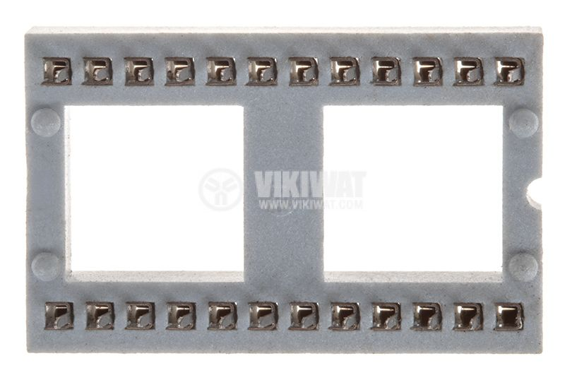 Цокъл DIP, 24pin, растер 2.54mm, за интегрални схеми   - 1