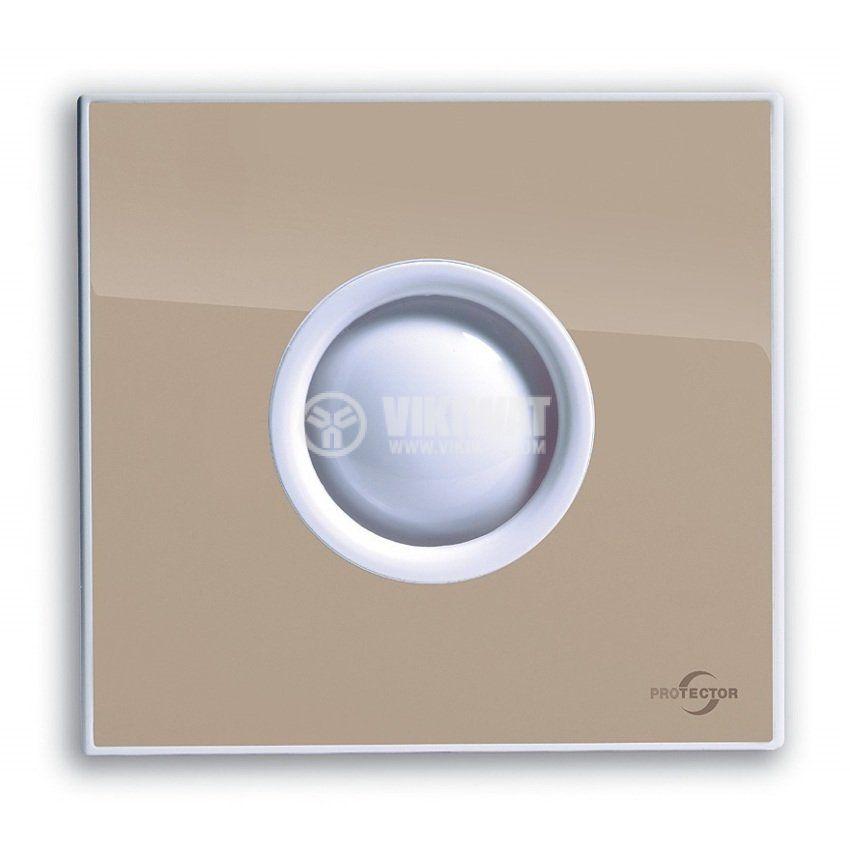 Вентилатор за баня M-E PROAIR 100 S-BE ф100mm 230V 15W 75m3/h бежов