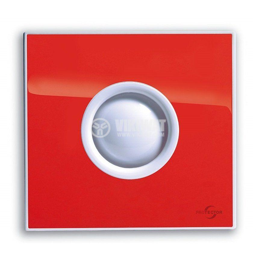 Вентилатор за баня M-E PROAIR 100 S-SR ф100mm 230V 15W 75m3/h червен