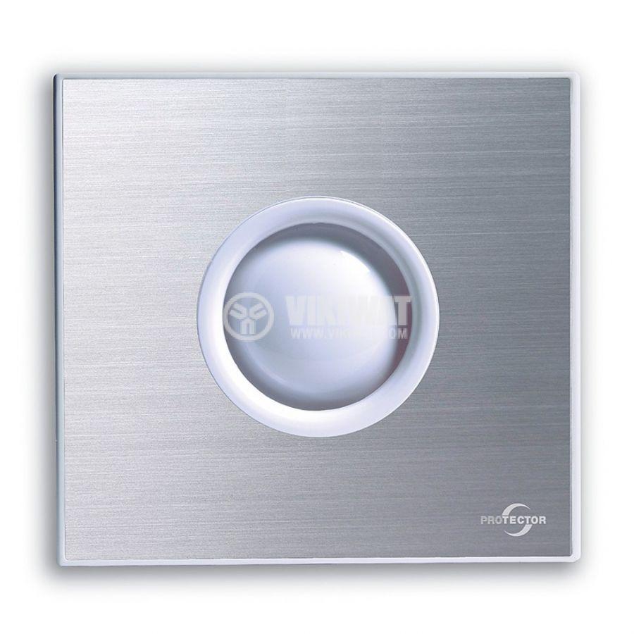 Вентилатор за баня M-E PROAIR 100 S-EP ф100mm 230V 15W 75m3/h инокс