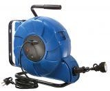 Макара удължител, шуко 15m, 3x1.5mm2, с термозащита, синя, IP20, AS Schwabe, 12631