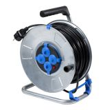 Extension cord reel, schuko, 50m, 3x1.5mm2, with thermal protection, metal, IP20, AS Schwabe, 10319