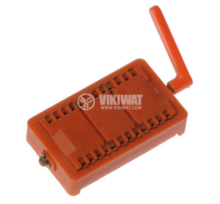IC Socket, DIP24, ZIF, 15.24mm, demountable, THT - 1