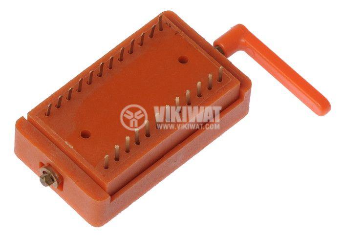 IC Socket, DIP24, ZIF, 15.24mm, demountable, THT - 2