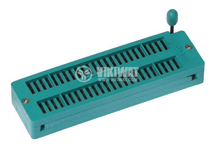 IC Socket, DIP48, ZIF, 7.62/15.24mm, demountable, THT - 1