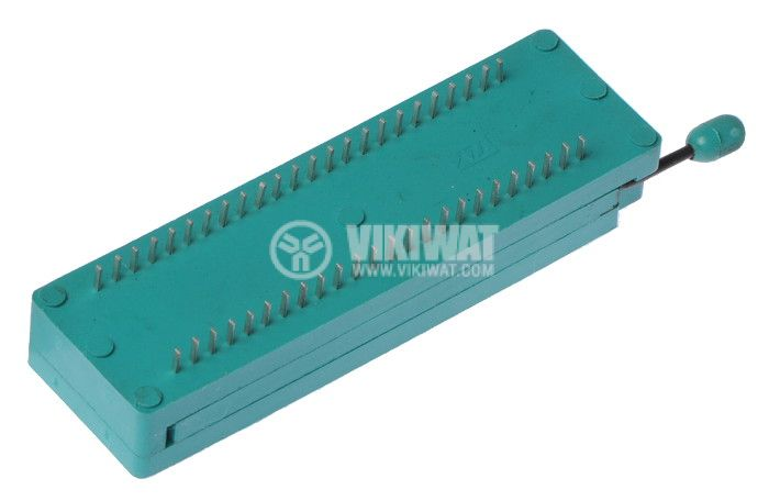 IC Socket, DIP48, ZIF, 7.62/15.24mm, demountable, THT - 2