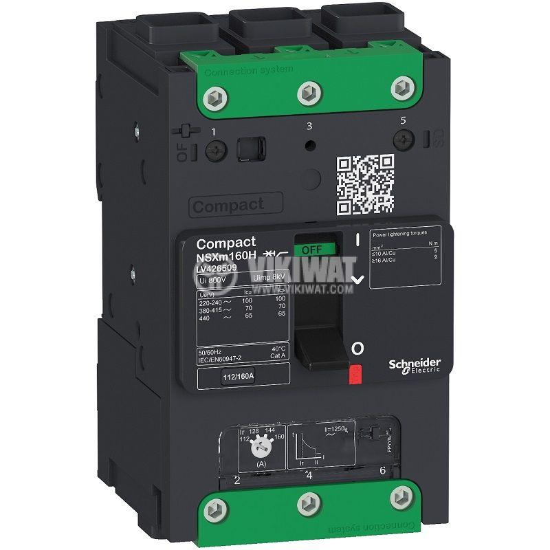 Automatic circuit breaker LV426309, 3P3D, 160А, 690VAC, Everlink
