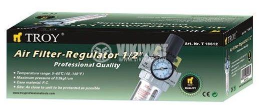 """Пневматичен регулатор и филтър 1/2"""" 10~120Psi - 2"""