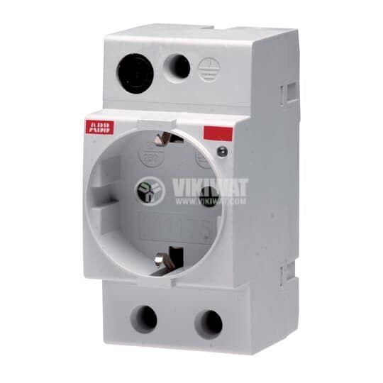 Електрически контакт за DIN шина 16A 250V бял ABB M1175