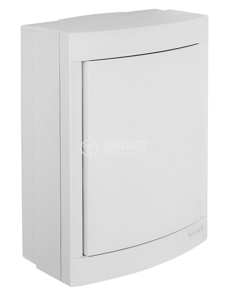 Апартаментно табло, BQDT2161, 2x8 модула, PANASONIC, за външен монтаж, бял цвят