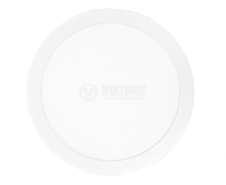 LED панел за обемен монтаж 18W кръг 230V 1350lm 4000K неутрално бял - 2