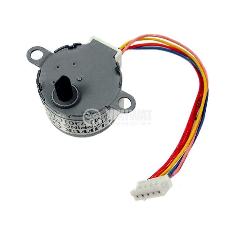 Електродвигател FMJ7301CH постояннотоков, 5~12VDC, стъпков, 5.6°, униполярен