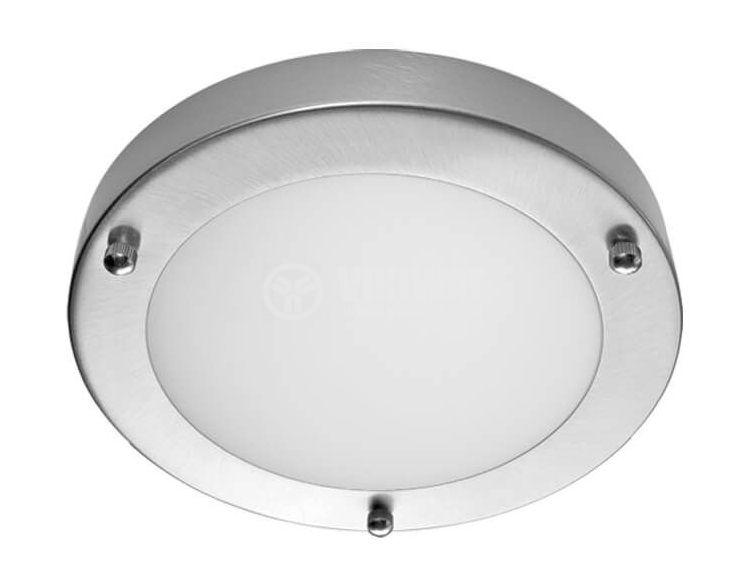 Плафон SERENA SMALL 8010/SN за баня, G9, до 40W, 230VAC, ф183x48mm, IP44, сатиниран нике
