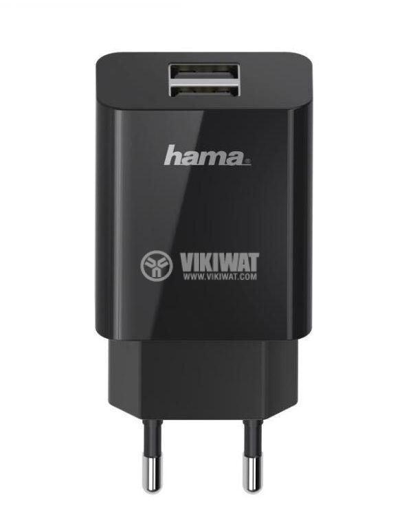 Зарядно за смартфон и таблет 2.1A 5V HAMA-200014 черно