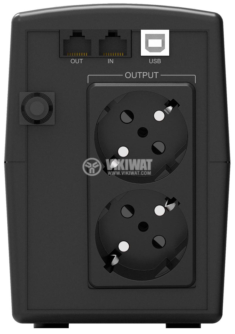 Аварийно захранване UPS Basic VI 1000 STL, 1000VA, 162~290VAC, 600W, линейно-интерактивен, модифицирана синусоида - 3