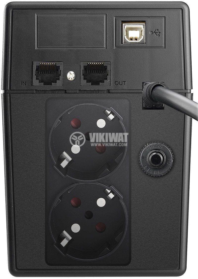 Аварийно захранване UPS Basic VI 600 SW, 600VA, 162~290VAC, 360W, линейно-интерактивен, истинска синусоида - 4