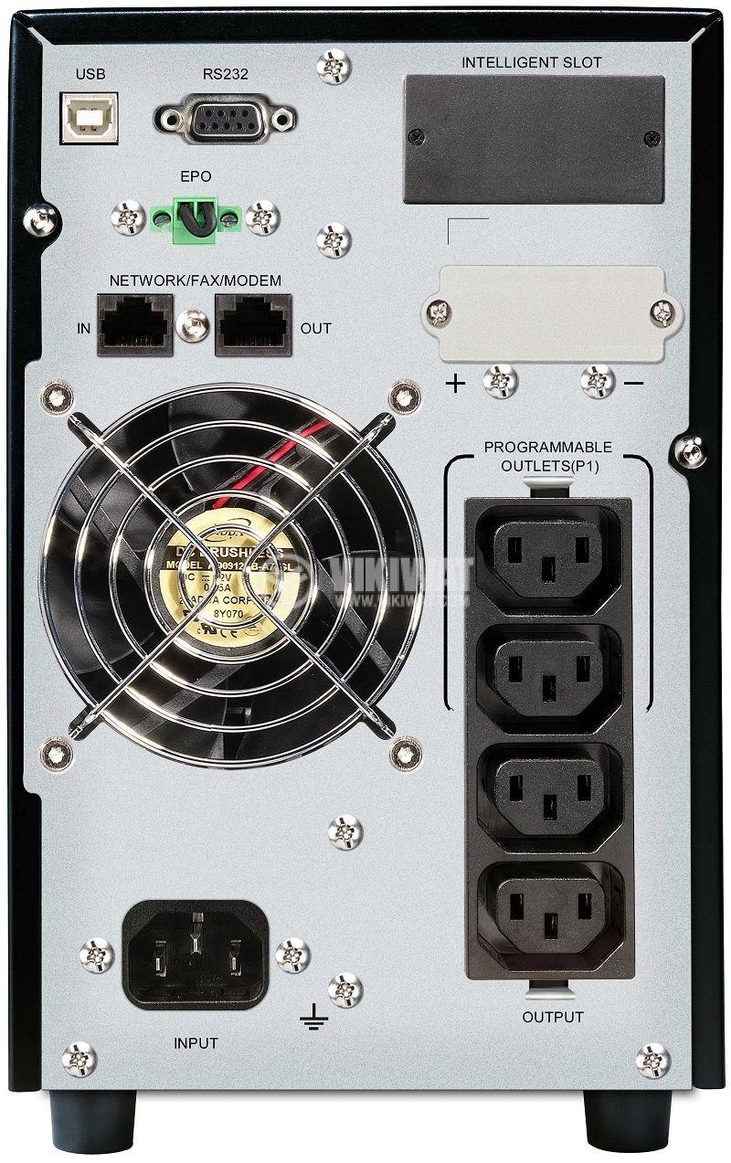 Аварийно захранване UPS VFI 1000 CG PF1, 1000VA, 110~300VAC, 1000W, On-line, истинска синусоида - 4