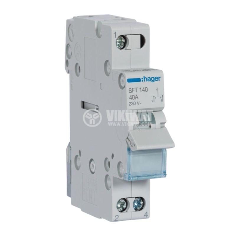 Превключвател разединителен, еднополюсен, 40A, 230V, трипозиционен, SFT140